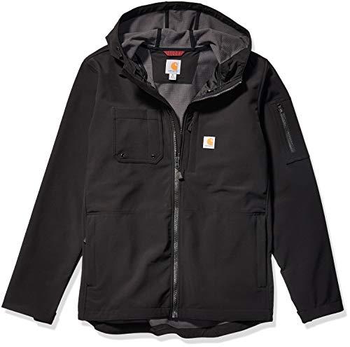 Carhartt Men's Hooded Rough Cut Jacket (Regular and Big & Tall Sizes), Black, X-Large