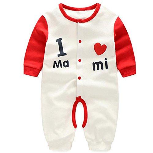 Footless Romper - Fairy Baby Long Sleeve Bodysuit Romper Snap-up Footless Sleeper(Love Mum,12-18 Months)