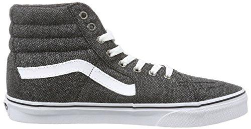 Vans Sk8-hi - Zapatillas de deporte Unisex adulto Gris (Tweed/Black/True White)