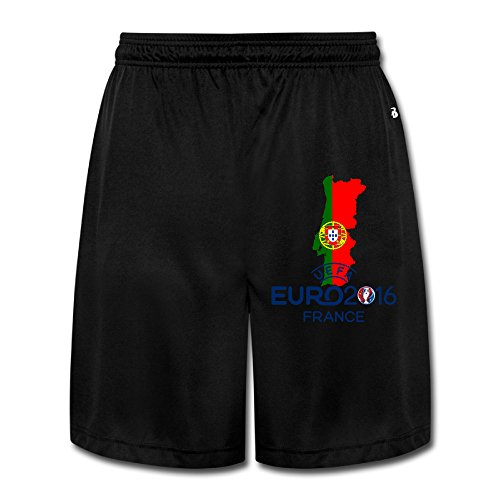 CEDAEI UEFA EURO 2016 Portugal Soft Mens Training Shorts Sport Sweatpants Black Half - Online Sale Gucci