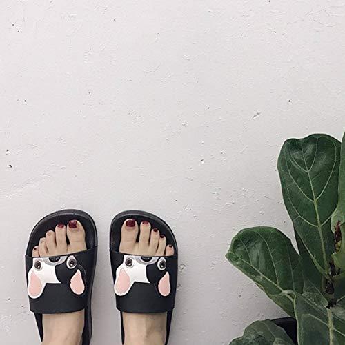 Casual Extérieur Black Doux Été Detectoy Pantoufles 40 Antidérapante Épais Pantoufles Style Mode Chien pour Modèle coréen Semelle Mignon Intérieur Pantoufles Femmes Bx6qUHx