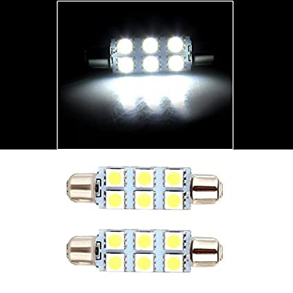 Amazon Com Cciyu 2x White 44mm Festoon 6 5050 Smd Chips Led
