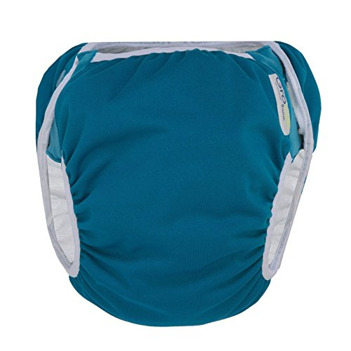 GroVia Reusable Waterproof Swim Diaper for Baby, Infant, and Toddler (Size 2: 16-33 lbs, Abalone)