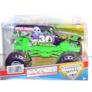 Dubblebla Hot Wheels Monster Jam Grave Digger 30th Anniversary 1:24 Scale Truck (Hot Wheels Monster Jam Grave Digger 30th Anniversary)