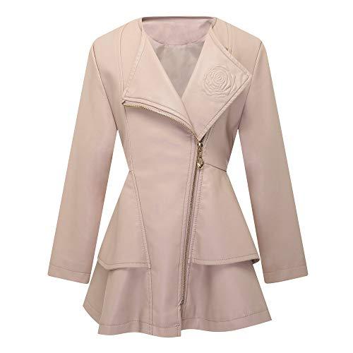 Girls Leather Coat Dress Outwear Windbreaker Kids Toddler Pink 3T 4T Twins Dream ()