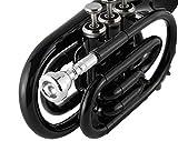 EastRock Pocket Trumpet Black Laquer Brass Bb