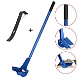44-Inches Heavy Duty Pallet Buster Pallet Pry Bar Fork Deck Wrecker Board Nail-Removal Puller Crowbar Dismantling Tool Set Durable Sturdy