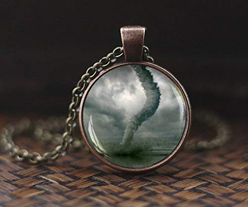 Tornado Necklace, Jewelry, Tornado Chaser, Meteorologist, Cyclone Waterspout