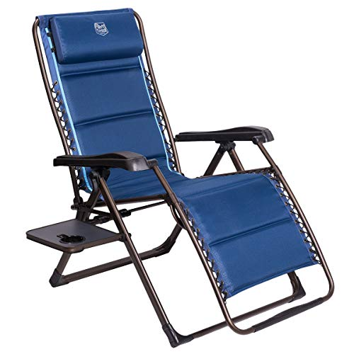Timber Ridge Zero Gravity Patio Locking Lounge Chair Oversize XL Padded Adjustable Recliner with Headrest Support 350lbs