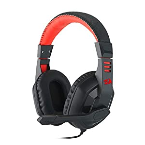 Redragon H120 Wired Gaming Headset with Microphone and Volume Control for Mobiles/Smart Devices, PC and PS4 (Black)