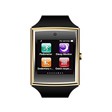 iSTYLE: LG518 Smart Watch 3D Surface Bluetooth 3.0 NFC Support SIM TF Card Pedometer Sleep Monitor Waterproof Smart Watch for iOS Android Smart Phones ...