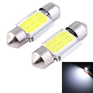 Guirnalda 31mm 2.2W 120LM 6000K 9de luz blanca SMD pilares realizado Auto de lectura ampen/doble nítidas luces (12V/2unidades)