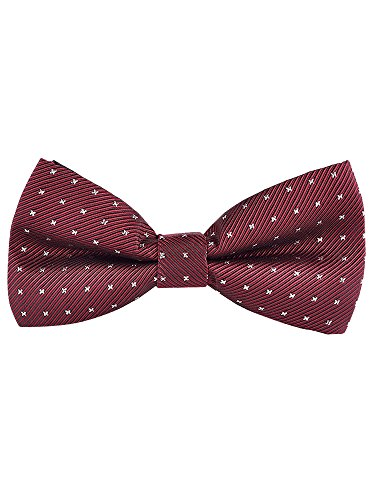 Pack 4 Men's Fashion Tied Adjustable with Closure Hook 12 cm 5 Bordeaux 6 Pre Bowtie All rqOExdwr7