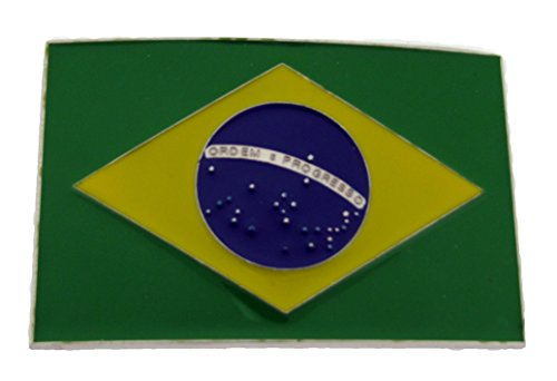 Brasil Brazil South American Nation World Soccer Champ Country Flag Belt Buckle