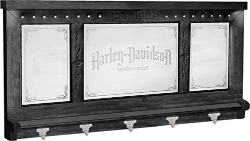 Harley-Davidson Pub Mirror - Black Finish