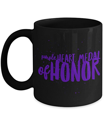 Heart Military Medal (Purple Heart Coffee Mug - Medal Of Honor - Armed Forces - Military Personnel - Gift)
