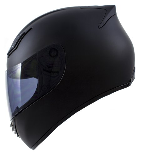 Duke Helmets DK-120 Full Face Motorcycle Helmet, Large, Matte Black