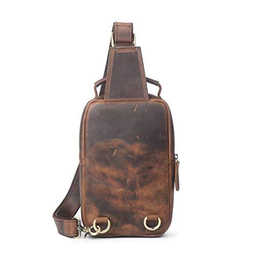 Per In Pelle Retro Da Weatly Viaggio Tracolla Dark Il Brown Borse Marrone color Busto Uomo Brown A Impermeabile Casual PrPHtqvwf