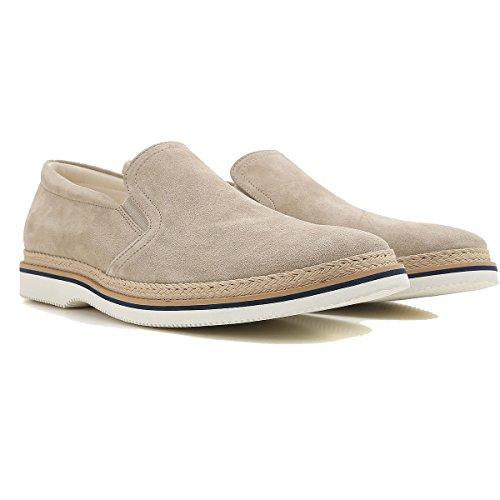 Hogan Herren Hxm3160x510hg0c803 Beige Wildleder Slip Op Sneakers