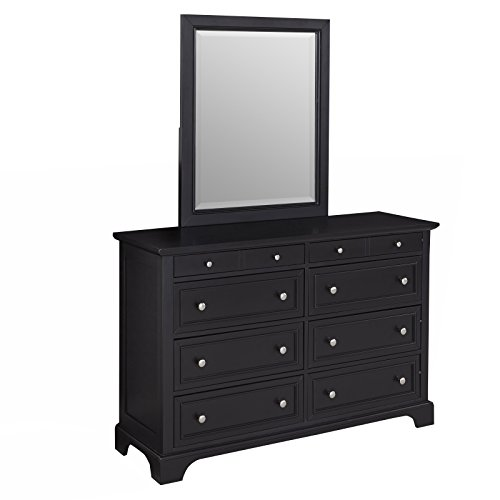 Bedford Black Dresser and Mirror by Home Styles (Tall Mirror With Dresser)