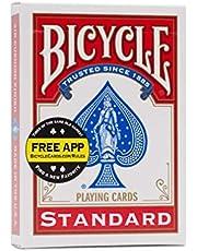 ورق لعب بلوت بايسكل ستاندرد - احمر
