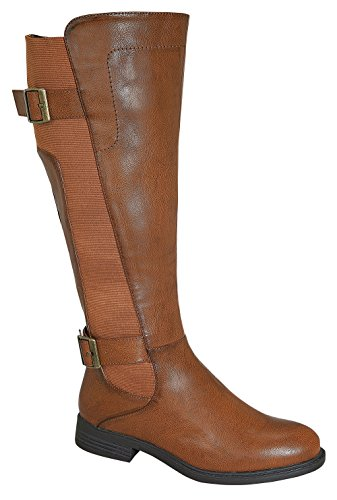 Pita-37W Women's Elastic Design Knee High Causal Rider Boots with Buckle
