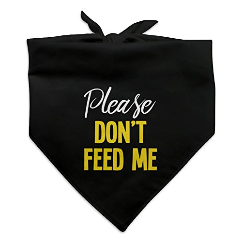 Graphics and More Please Don't Feed Me Dog Pet Bandana – Black