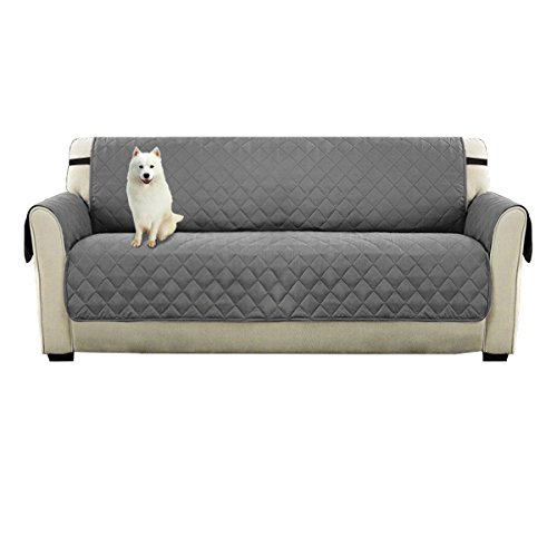 DIFEN Sofa Covers, Slipcovers, Reversible Quilted Furniture Protector, Water Resistant,Improved Anti-Slip Couch Shield with Elastic Straps,Foams,Micro Fabric Pet - Deep Cushion Sofa