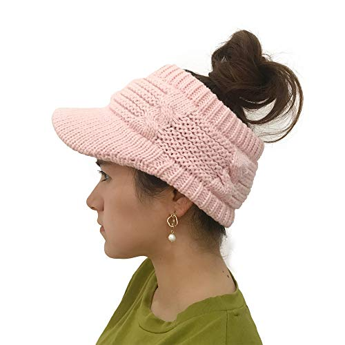 iLXHD Women Caps Hat Winter Cotton Twist Peaked Knit Wool Hollow Out Multicolor Point Skull Visors -