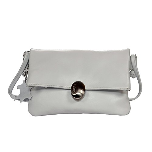 Women's Handmade Genuine Cow Leather Crossbody bag, Slingbag, Handbags and Purses (WHITE) by EUSTACE