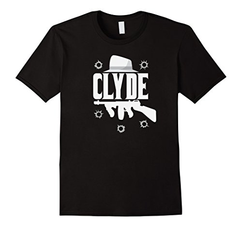 Mens Clyde and Bonnie T-Shirt Halloween Matching Couples Costume 3XL (Halloween Costumes Bonnie And Clyde)
