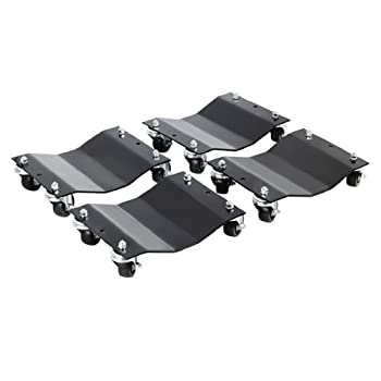 Image of Dollies Pentagon Tools 5060 Tire Skates 4 Tire Wheel Car Dolly Ball Bearings Skate Makes Moving A Car Easy, 12' (Pack of 4) Rated at 6000lbs.