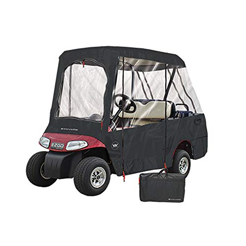 """GreenLine 2 Over 4 Passenger Golf Cart Enclosure by Eevelle (68"""" L x 48"""" W x 64"""" W) (Black)"""