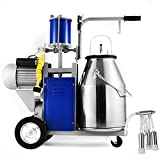Mophorn Electric Milking Machine 25L Bucket Milking Machine 500W Stainless Steel Milking Machine Only for Cows (25L)