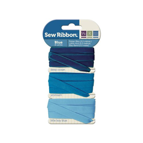 We R Memory Keepers Sew Ribbon, Blue Ocean Blue Grosgrain Ribbon
