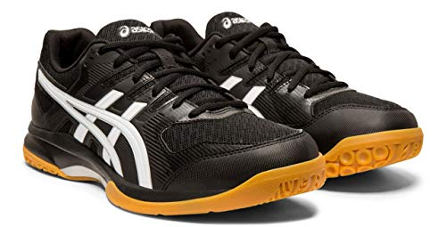 (ASICS Gel-Rocket 9 Men's Volleyball Shoes, Black/White, 8 M US)