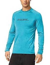 Baleaf Men's Long Sleeve Surf Shirt Rashguard Swim Tee UPF 50+
