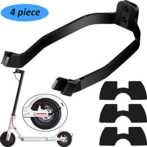 4 Pieces Scooter Replacement Part Accessory Includes Rear Fender Bracket  Mudguard Bracket Support and 3 Pieces Rubber Vibration Dampers for Xiaomi