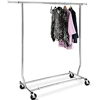 Amazon Com Tomcare Garment Rack Adjustable Clothes Rack