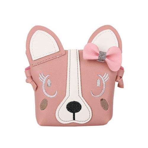 Charmly Cute Fashionable Handbag Shoulder Bags Small Coin Purse Crossbody Bags PU Leather for Children Kids Girls Toddler Baby Girls Little Girls Pink-Dog