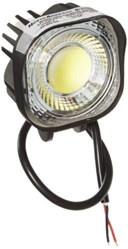 North American Signal WLED-25 Round LED Work Light, Aluminum, 2000 Lumens, 12/24V by North American Signal