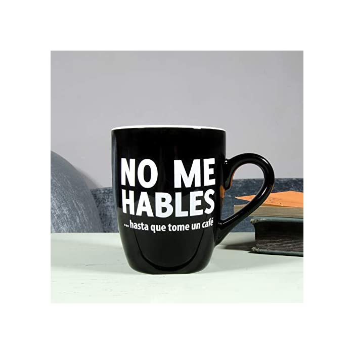 41smCJ0O0rL Taza con mensaje original para adictos al café. Es un regalo original perfecto para tu pareja, tus amigos, tu padre, tu madre, tu jefe... Cerámica de excelente calidad.