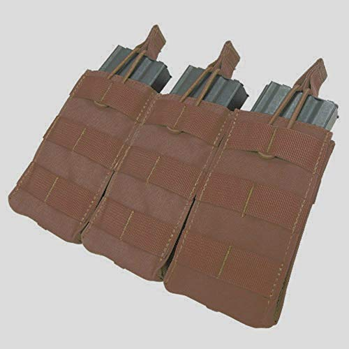 Pouch Mag Rifle - CONDOR Triple M4/M16 Open-Top Mag Pouch, Coyote Brown