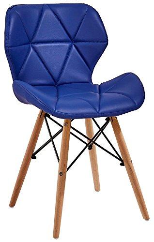 All4all Design Stuhl Esszimmerstuhl Büro Bürostuhl Essgruppe Sitzgruppe Esstisch  Stühle Design Stuhl Skandinavischen Polsterstuhl Lederstuhl Emma