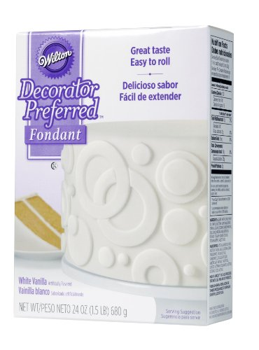 Wilton 710-2301 Decorator Preferred Fondant, 24-Ounce, White (Rolled Fondant)