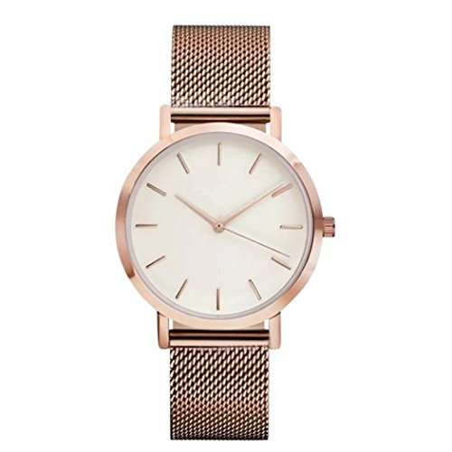 Charberry Unisex Classic Watches Quartz Dial Clock Analog Wrist Watch (Rose Gold)