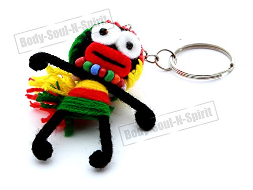 Handmade Wool string Voodoo LOVELY DOLL Key ring Chain lucky charm special gift
