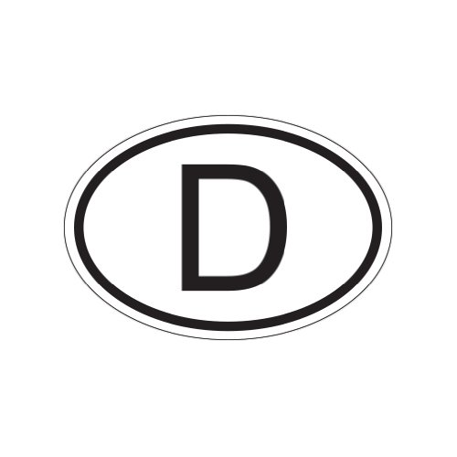 Cheap D Germany Country Code Oval - Color Sticker - Decal - Die Cut for cheap
