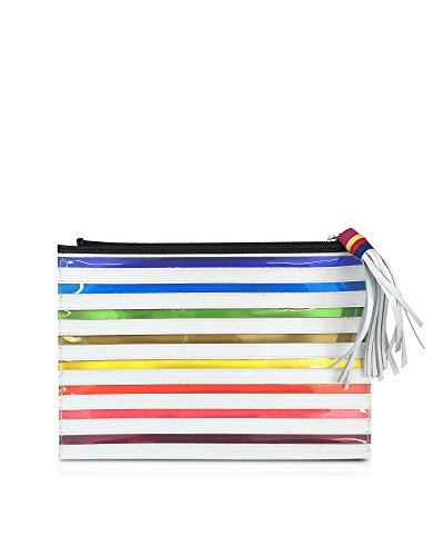 MARY KATRANTZOU WOMEN'S RS16ACP0003PWNEM MULTICOLOR COTTON CLUTCH