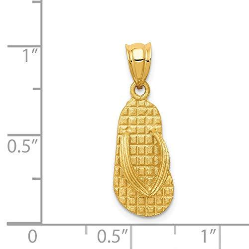 Quilates de INC de Amarillo Sandalias 14 DIAMOND2DEAL de Colgante Oro TBnq4w4O